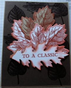 Stampin Up Vintage Leaves